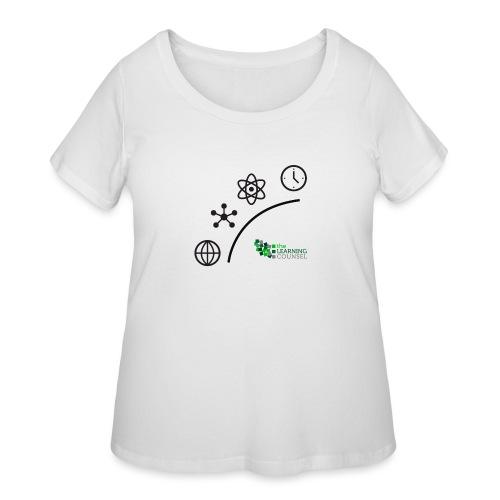 Matter Energy Space Time (Black) - Women's Curvy T-Shirt