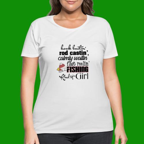 Fishing Kind of Girl - Women's Curvy T-Shirt
