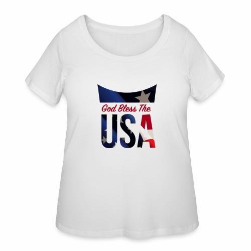 God Bless The USA Veterans T-Shirts - Women's Curvy T-Shirt