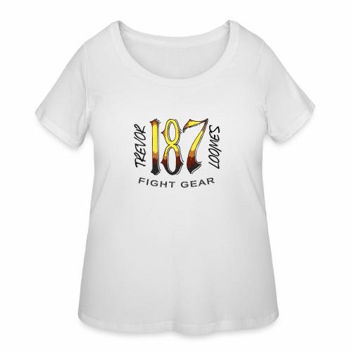 Coloured Trevor Loomes 187 Fight Gear Logo - Women's Curvy T-Shirt