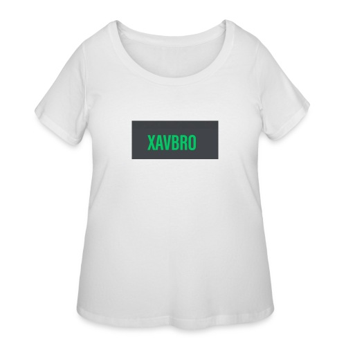 xavbro green logo - Women's Curvy T-Shirt