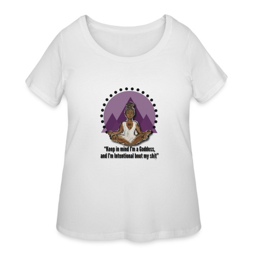 Meditating Goddess - Women's Curvy T-Shirt