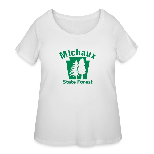 Michaux State Forest Keystone (w/trees) - Women's Curvy T-Shirt