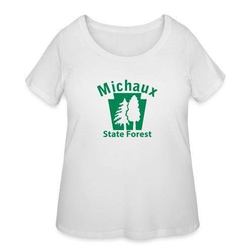 Michaux State Forest Keystone (w/trees) - Women's Curvy T-Shirt