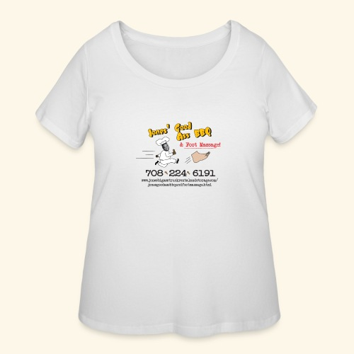 Jones Good Ass BBQ and Foot Massage logo - Women's Curvy T-Shirt