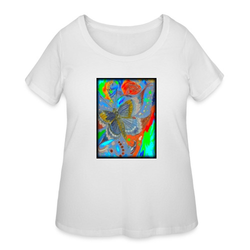 Butterfly - Women's Curvy T-Shirt