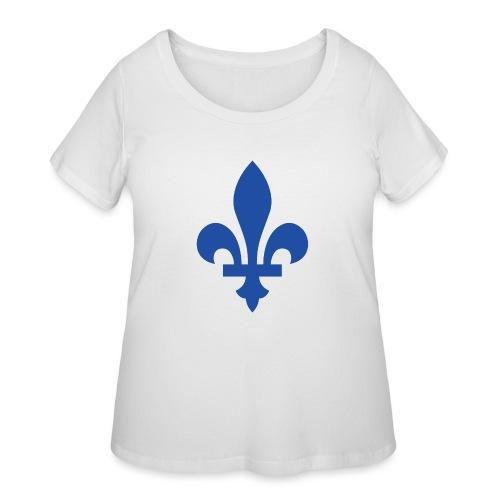 2000px Blue fleur de lis2 png - Women's Curvy T-Shirt