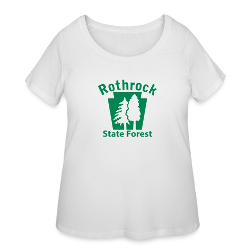 Rothrock State Forest Keystone (w/trees) - Women's Curvy T-Shirt