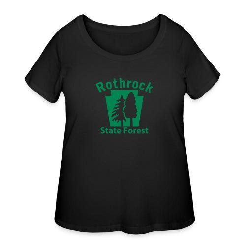 Rothrock State Forest Keystone (w/trees) - Women's Curvy T-Shirt