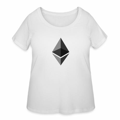 ethereum icon brand - Women's Curvy T-Shirt