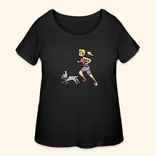RunWithPixel - Women's Curvy T-Shirt