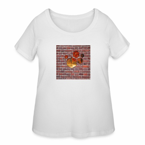 Wallart - Women's Curvy T-Shirt