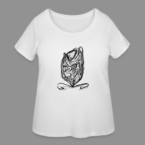 Wolfman Originals Black & White 12 - Women's Curvy T-Shirt