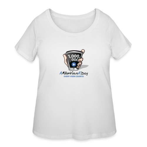 AMillionViewsADay - every view counts! - Women's Curvy T-Shirt