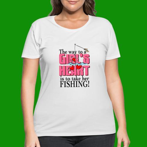 Fishing - Way to a Girl's Heart - Women's Curvy T-Shirt