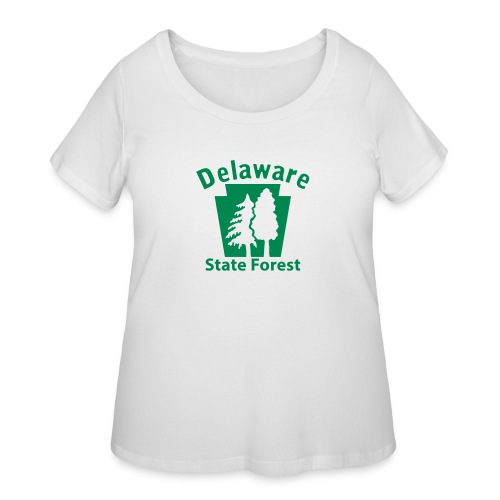 Delaware State Forest Keystone (w/trees) - Women's Curvy T-Shirt
