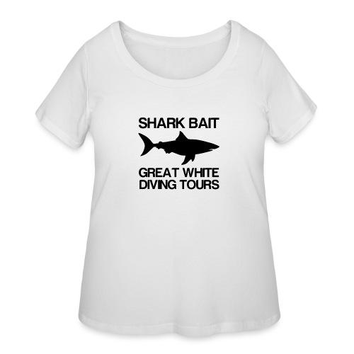 Great White Shark T-Shirt - Women's Curvy T-Shirt