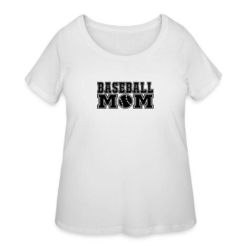 Baseball Mom - Women's Curvy T-Shirt