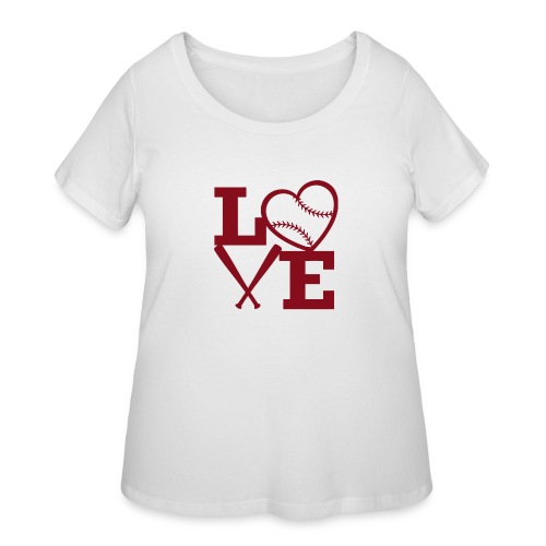 Love baseball - Women's Curvy T-Shirt