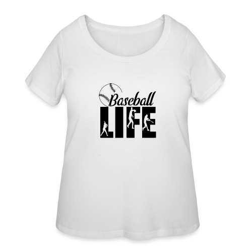 Baseball life - Women's Curvy T-Shirt