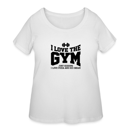 I love the gym - Women's Curvy T-Shirt