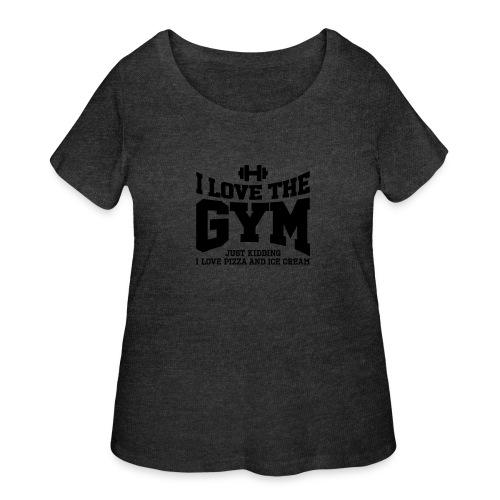I love the gym - Women's Curvy T-Shirt