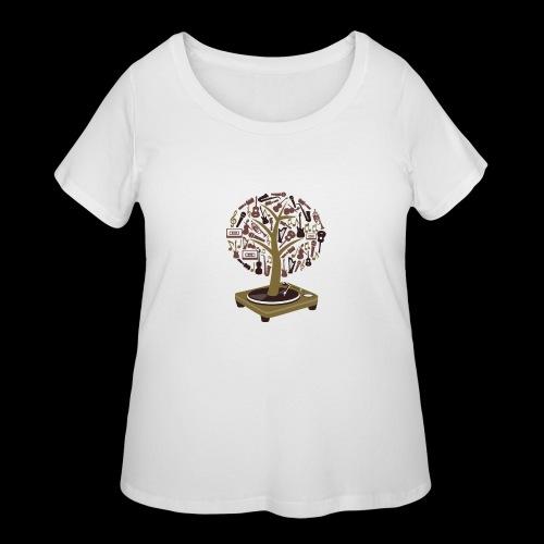 Turntable Tree of Music - Women's Curvy T-Shirt