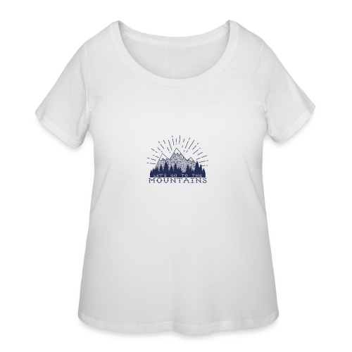 Adventure Mountains T-shirts and Products - Women's Curvy T-Shirt