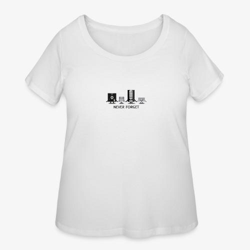 Never forget - Women's Curvy T-Shirt