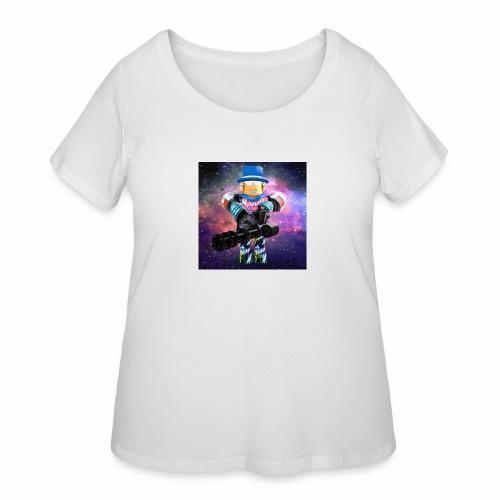 sean roblox character with minigun - Women's Curvy T-Shirt