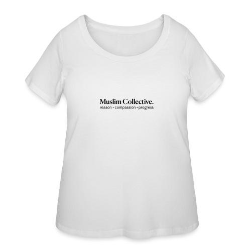 Muslim Collective Logo + tagline - Women's Curvy T-Shirt