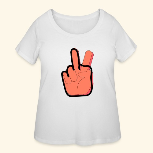 peace off - Women's Curvy T-Shirt