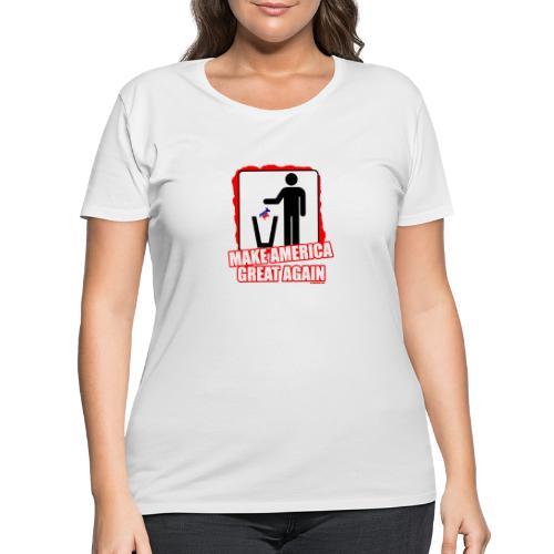 MAGA TRASH DEMS - Women's Curvy T-Shirt