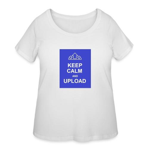 RockoWear Keep Calm - Women's Curvy T-Shirt