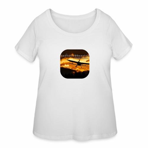 "InovativObsesion ""TAKE FLIGHT"" apparel - Women's Curvy T-Shirt"