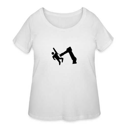 Robot Wins! - Women's Curvy T-Shirt
