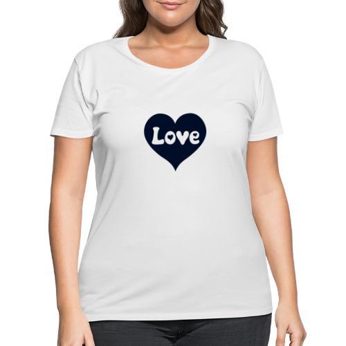 Love Heart - Women's Curvy T-Shirt