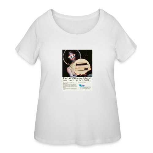 tr computer early80s juki - Women's Curvy T-Shirt