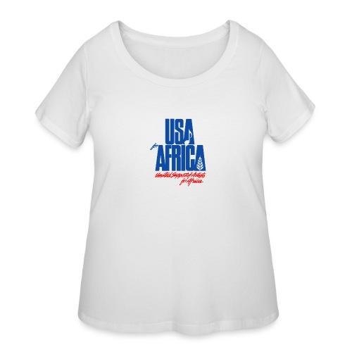 USA for africa merch - Women's Curvy T-Shirt