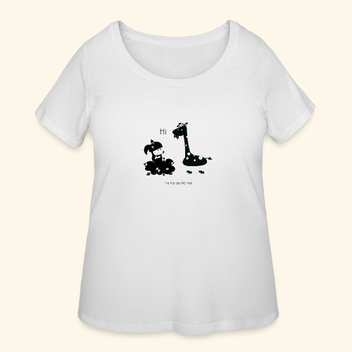 The first day we met - Women's Curvy T-Shirt