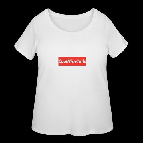 CoolNineTails supreme logo - Women's Curvy T-Shirt
