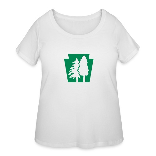 PA Keystone w/trees - Women's Curvy T-Shirt
