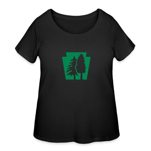 PA Keystone w/trees - Women's Curvy T-Shirt