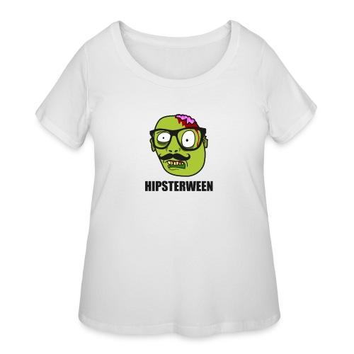 Hipsterween Zombie - Women's Curvy T-Shirt