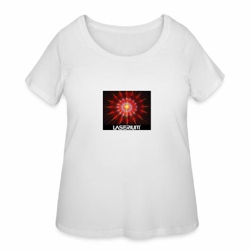 LASERIUM Laser starburst - Women's Curvy T-Shirt