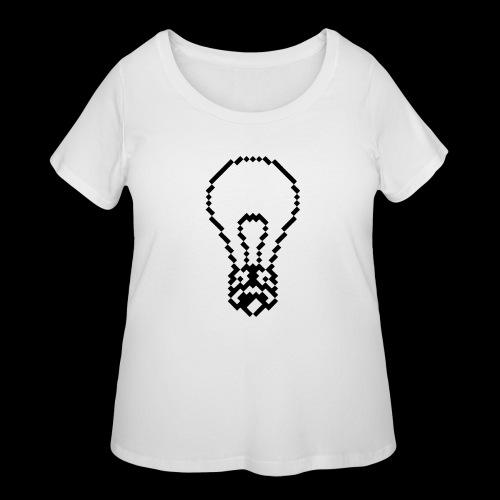 lightbulb - Women's Curvy T-Shirt