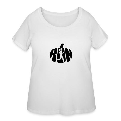 Halloween Running Pumpkin - Women's Curvy T-Shirt