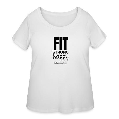 fit strong happy black - Women's Curvy T-Shirt