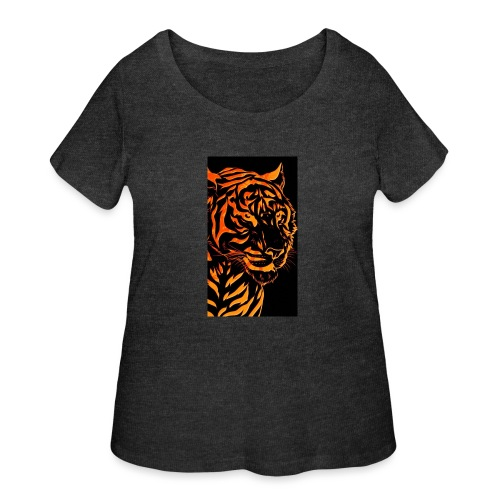 Fire tiger - Women's Curvy T-Shirt