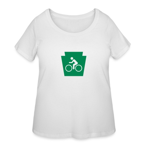 PA Keystone w/Bike (bicycle) - Women's Curvy T-Shirt